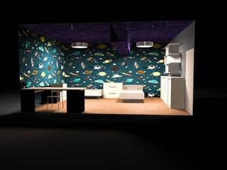 Depto VB:  de estilo  por Wave Arquitectura