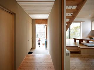 山手台の家 和風の 玄関&廊下&階段 の 樋口章建築アトリエ 和風