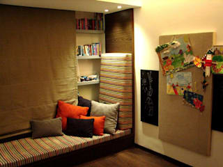 Choudhary Residence, Juhu, Mumbai Eclectic style study/office by Inscape Designers Eclectic
