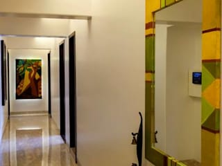 Choudhary Residence, Juhu, Mumbai Eclectic style corridor, hallway & stairs by Inscape Designers Eclectic