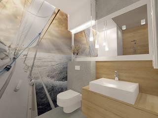Artystyczny Żoliborz: styl , w kategorii Łazienka zaprojektowany przez Manekineko
