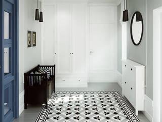Pasillos y vestíbulos de estilo  de Saje Architekci Joanna Morkowska-Saj, Ecléctico