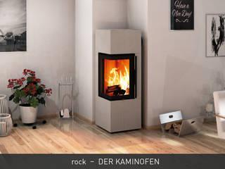 CB stone-tec GmbH Ruang Keluarga Modern Batu White
