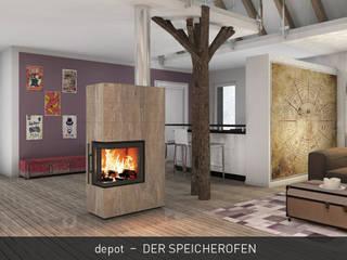 CB stone-tec GmbH Salon moderne Pierre Ambre/Or