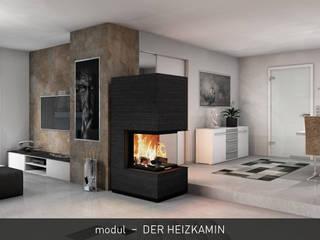 CB stone-tec GmbH Livings modernos: Ideas, imágenes y decoración Piedra Negro
