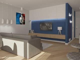 indygo w Gdyni - projekt: styl , w kategorii Salon zaprojektowany przez Saje Architekci Joanna Morkowska-Saj,