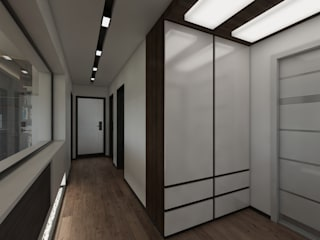 Meteor Mimarlık & Tasarım Couloir, entrée, escaliers modernes