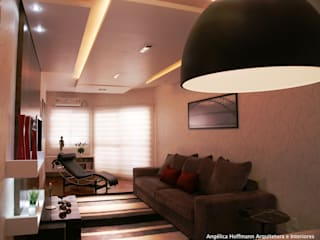 Galeria Central | Carlos Barbosa Salas de estar modernas por Angelica Hoffmann Arquitetura e Interiores Moderno