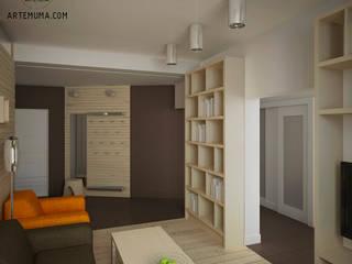 Квартира в Павшино: Гостиная в . Автор – artemuma - архитектурное бюро
