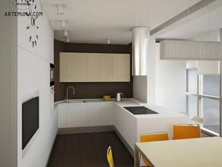 Квартира в Павшино: Кухни в . Автор – artemuma - архитектурное бюро