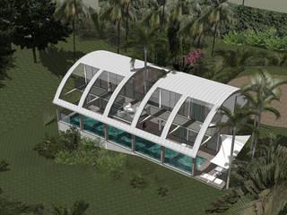 Casas tropicais por Jean-Marc Achy Architecte DPLG Tropical