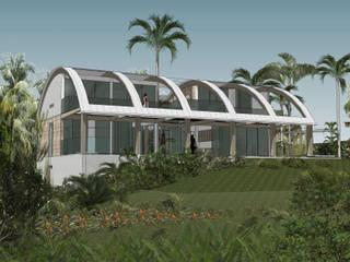 トロピカルな 家 の Jean-Marc Achy Architecte DPLG トロピカル