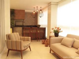 Quartier Perdizes Varandas, alpendres e terraços modernos por Angelica Hoffmann Arquitetura e Interiores Moderno