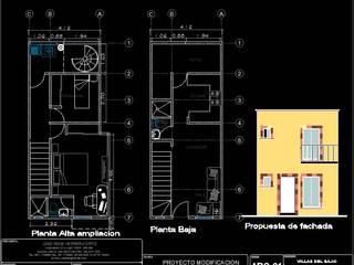 Ampliación casa de interes social Casas modernas de ProyectaIngenieriaMX Moderno