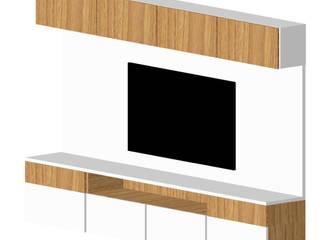 By CA Living roomShelves MDF White