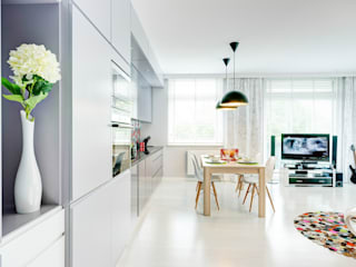 Phòng khách theo Saje Architekci Joanna Morkowska-Saj, Hiện đại