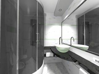 baño juvenil remodelacion Baños modernos de ESTUDIO CRUZ Moderno