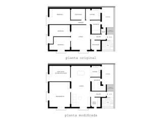 Leona's apartment 02: Salones de estilo  de re-BCN | reformas BARCELONA | Oficina de Arquitectura