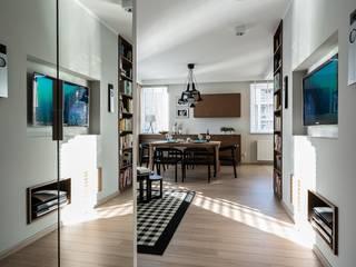 morska bryza w Gdańsku - realizacja: styl , w kategorii Salon zaprojektowany przez Saje Architekci Joanna Morkowska-Saj,