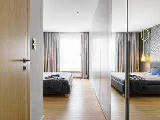 Minimalistische slaapkamers van Anna Maria Sokołowska Architektura Wnętrz Minimalistisch
