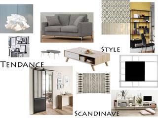 Salon scandinave planche tendance:  de style  par Martin Olivia