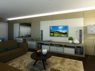 Decoração Apartamento L.B DTE Arquitetura e Consultoria LTDA Salas de estar modernas