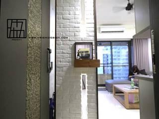 高雄鳳山 陳公館 工業風的玄關、走廊與階梯 根據 協億室內設計有限公司 工業風