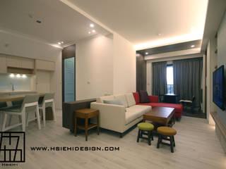 台北中正 蔡公館 现代客厅設計點子、靈感 & 圖片 根據 協億室內設計有限公司 現代風