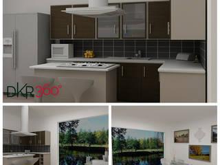 Mefe Grup / DKR 360 İnş . Taahüt Ltd. Şti. – Bostancı Mutfak dekorasyonu , Mutfak tadilatı ve Çizimleri (Aralık 2015):  tarz Mutfak