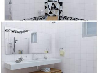 Mefe Grup / DKR 360 İnş . Taahüt Ltd. Şti. – Maltepe&Kartal Banyo dekorasyonu , Banyo tadilatı ve Çizimleri (Mayıs 2016):  tarz Banyo