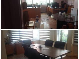 Mefe Grup / DKR 360 İnş . Taahüt Ltd. Şti. – Şişli&Mecidiyeköy Ofis Dekorasyonu ve Tadilatı (Temmuz 2016):  tarz Ofis Alanları
