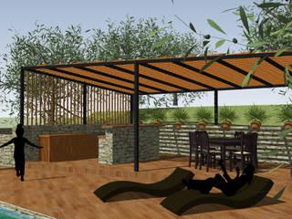 terrasse et Pool house: Piscines  de style  par Art and Landscape