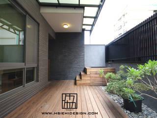 協億室內設計有限公司 Balkon, Beranda & Teras Gaya Asia