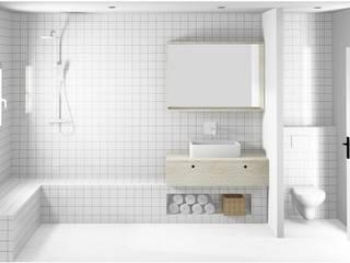 SALLE DE BAINS: Salle de bains de style  par SLOWOOD / MOUVANCE DESIGN