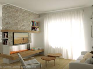 Contemporary English Style Apartment Soggiorno moderno di Gentile Architetto Moderno