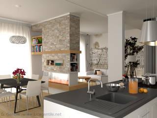 Contemporary English Style Apartment Cucina moderna di Gentile Architetto Moderno