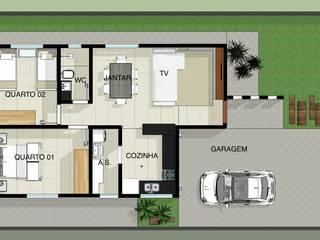 Casa Térrea: Casas  por Arquitetura Pronta,Moderno