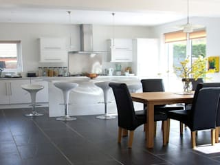 Extension with roofspace conversion, Stranmillis, Belfast:  Kitchen by Jim Morrison Architects