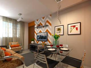 Decoração Apartamento C.O. DTE Arquitetura e Consultoria LTDA Salas de jantar ecléticas