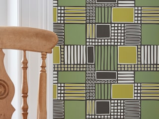 Parcel Geometric Contemporary Patterned Wallpaper:   by Interiors by Element