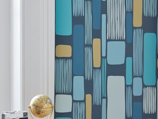 Shard Geometric Vertical Stripe Wallpaper:   by Interiors by Element