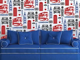 London Allover Wallpaper Stencil • Reusable Stencils • DIY •Home Decor • Interiors • Feature Wall • Wallpaper alternative:   by Stencil Up