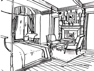 Example Sketch - Level 1. Our Most Cost Efficient Sketch Style:   by Kevin Gray Interiors