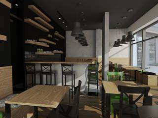 Wnętrze restauracji sushi: styl , w kategorii Gastronomia zaprojektowany przez emc|partners
