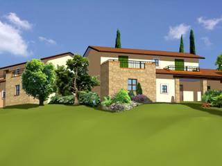 Case sulla collina: Case in stile In stile Country di Studio Caponi