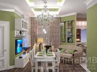 Перепланировка и дизайн 2 х комнатной квартиры: Гостиная в . Автор – ИнтеРИВ