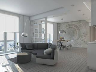 Progetto appartamento: Soggiorno in stile  di Silvana Barbato, StudioAtelier