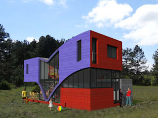 Casas modernas por eco-designer Moderno