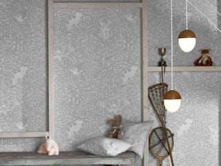 FOREST Dust Dove Grey Wallpaper 10m Roll Hevensent CasaAccessori & Decorazioni Carta Grigio