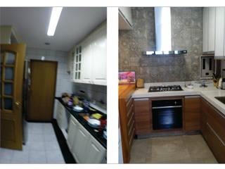 Integração entre cozinha e sala Cozinhas modernas por Rafael Castro Arquitetura Moderno